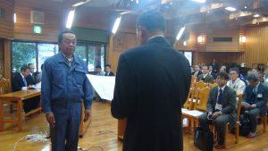 つかみ捕り大会・釣り大会・石倉造成など北川漁協での取り組みを協力していただいている隅田組様に感謝状贈呈