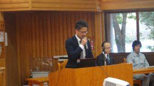 水産庁栽培養殖課 内水面企画係長 図師尚文様より来賓の挨拶をいただきました。
