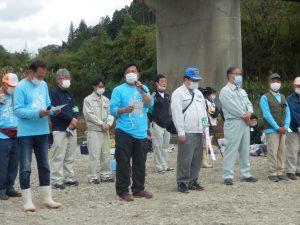 注意事項は北川漁協専務理事井本厚徳氏より説明。