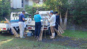 漁協の役員さん、早朝より竿の仕掛け作りお疲れ様です!